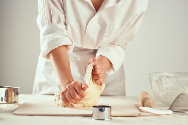 Massa rolante farinha produtos cozinha trabalho cozinha