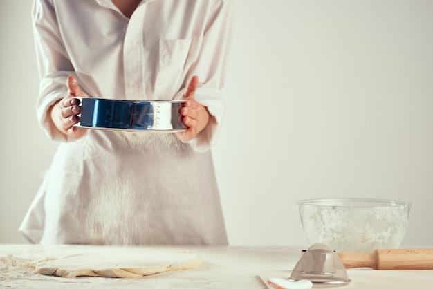 Massa rolante farinha produtos farinha de cozinha cozinhar dever de casa