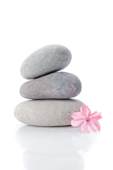 Massagem pedras cinzentas
