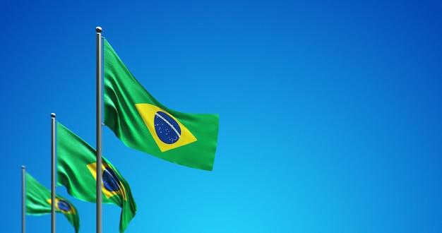 Mastro 3d voando brasil no céu azul