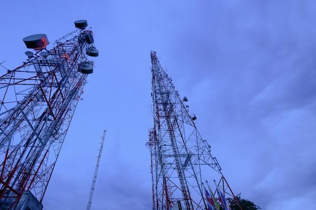 Mastro de telecomunicações antenas de tv tecnologia sem fio