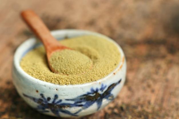 Matcha chá verde em pó
