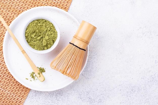 Matcha japonês chá verde em pó