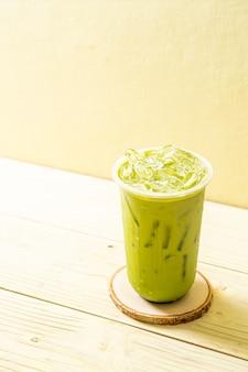 Matcha latte gelado chá verde