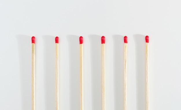 Matches sticks para acender um fogo