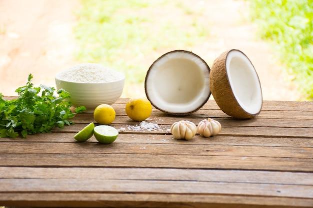 Matéria-prima para comida e sobremesa