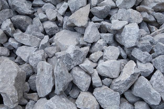 Materiais de construção de pedra esmagada