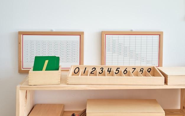 Materiais didáticos para aprender matemática em uma escola montessori