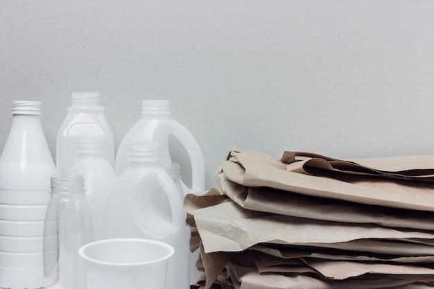 Materiais recicláveis.