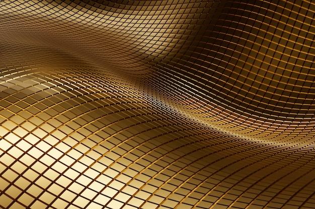 Material abstrato dourado texturizado