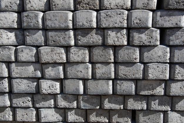 Material de construção. tijolos de pavimento.