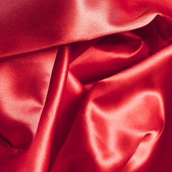 Material de tecido de seda vermelho para decoração de casa