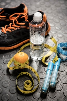 Material de treinamento no ginásio crossfit