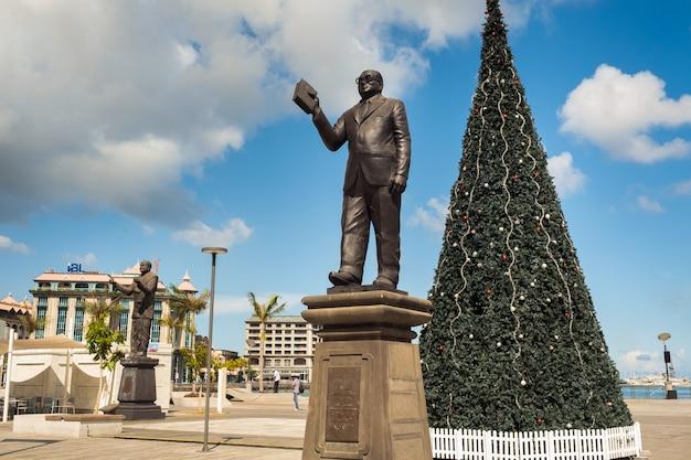 Maurícia - 12 de dezembro de 2019. monumento no aterro em port louis