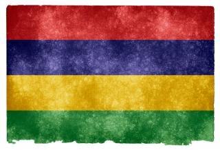 Maurícia grunge bandeira