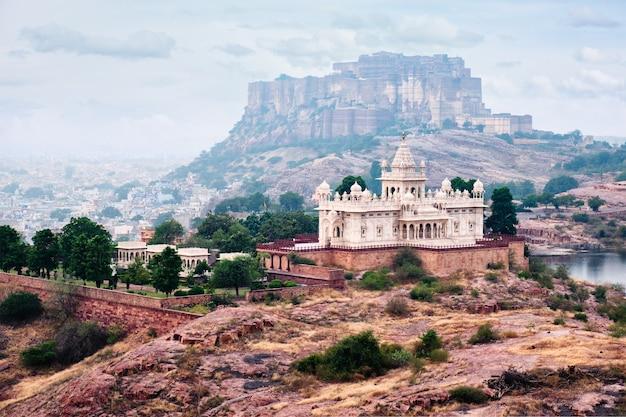 Mausoléu jaswanth thada jodhpur rajasthan índia