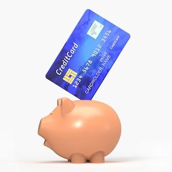Mealheiro com cartão de crédito