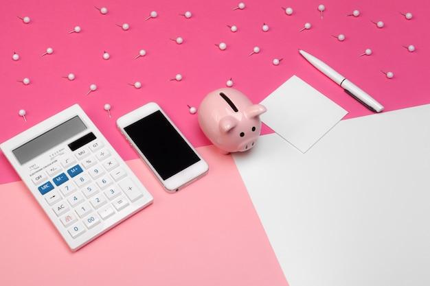 Mealheiro e calculadora