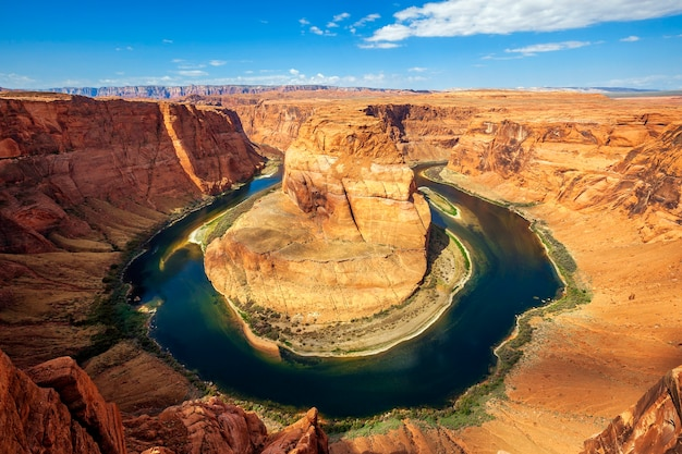 Meandro arizona horseshoe bend do rio colorado em glen canyon