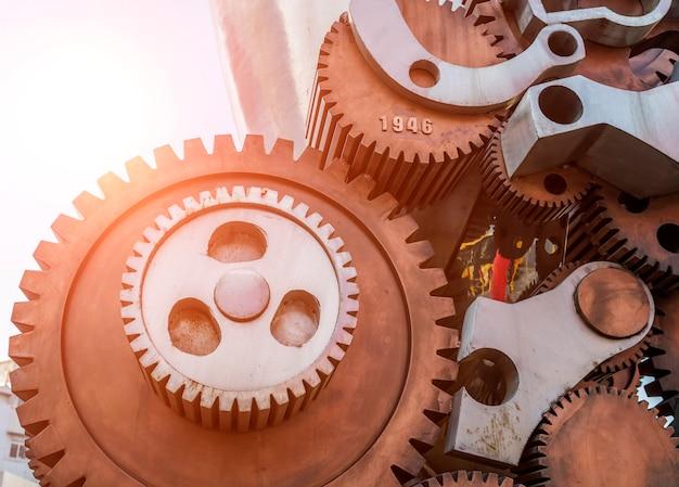 Mecânica de equipe conectar closeup cooperação metal