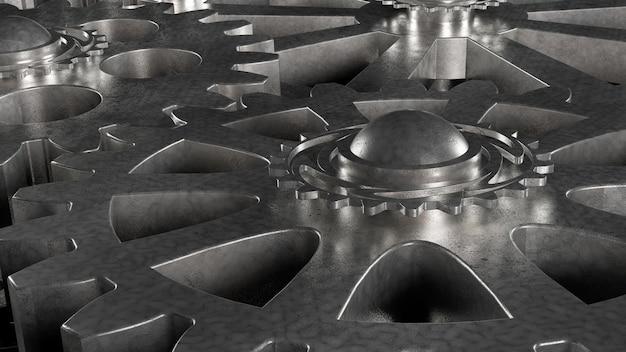 Mecanismo de engrenagem de metal em aço