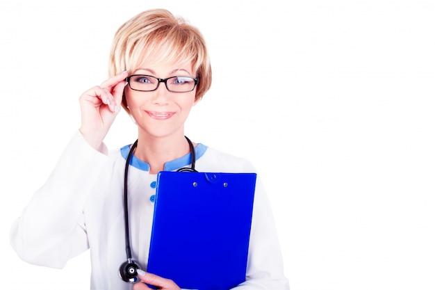 Médica. médico no trabalho