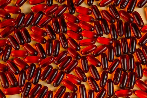 Medicamentos farmacêuticos, cápsulas vermelhas