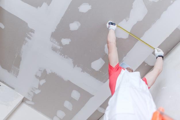 Medição de drywall