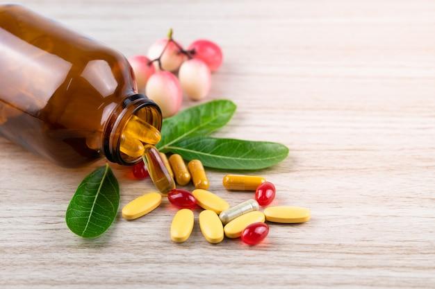 Medicina alternativa, vitaminas e suplementos de ervas naturais