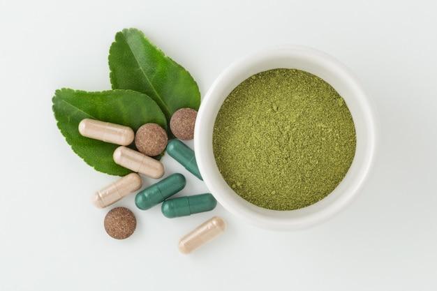 Medicina erval da folha do kaffir da terra