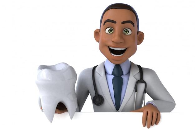 Médico divertido - personagem 3d