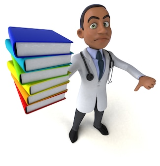 Médico divertido