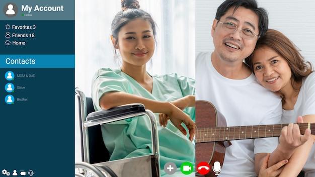 Médico e paciente conversando na videochamada