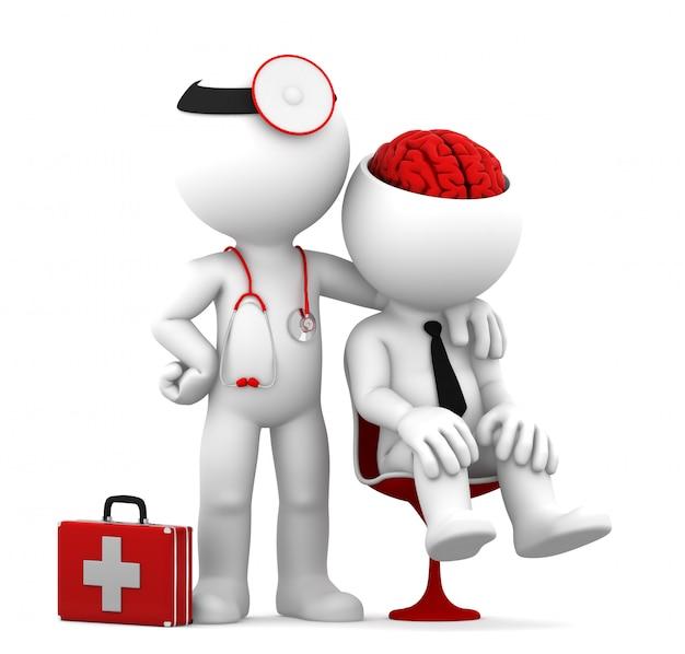 Médico e paciente.