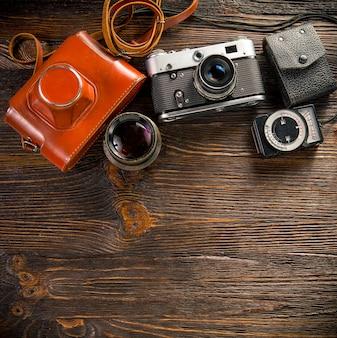 Medidor de exposição e câmera retro