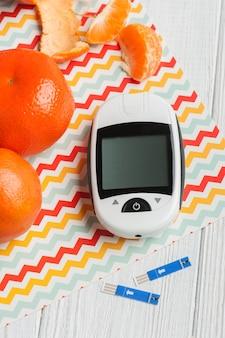 Medidor de glicose laranja clemetines