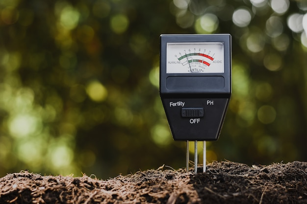 Medidor de ph do solo e medidor de fertilidade do solo para cultivo.