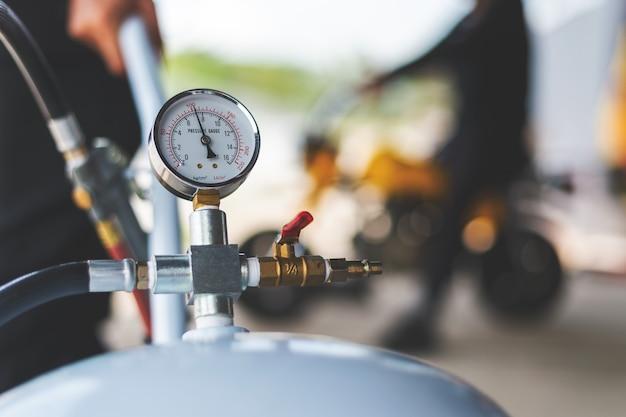 Medidor de pressão do compressor de ar