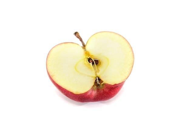 Meia maçã em branco