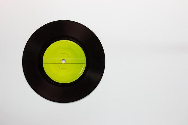 Meio de gravação de música analógica vintage de discos de vinil