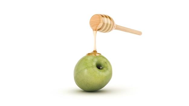 Mel e maçã renderização em 3d