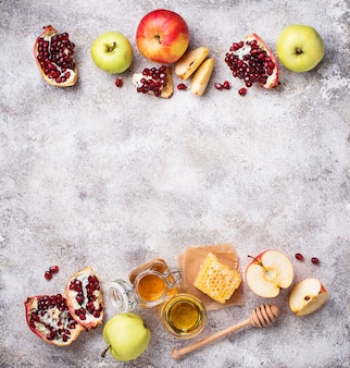 Mel, maçã e romã para rosh hashaná