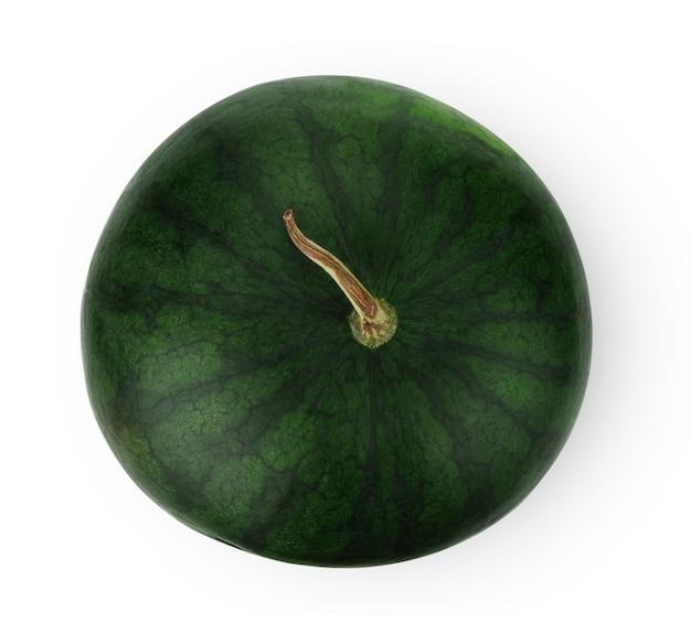 Melancia isolada na superfície branca. traçado de recorte de frutas de bagas de melancia.
