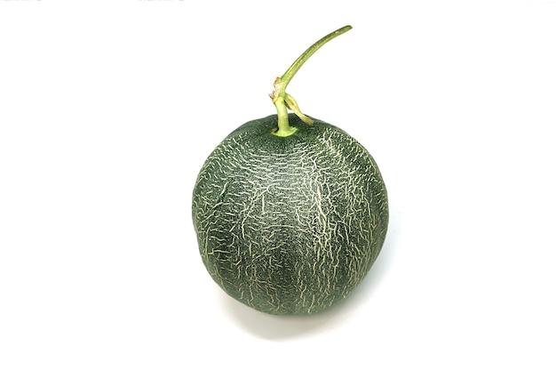 Melão isolado no fundo branco, frutas tropicais