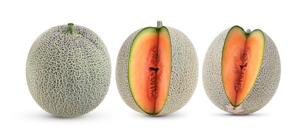 Melão melão isolado em fundo branco