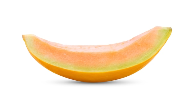 Melão melão isolado no fundo branco