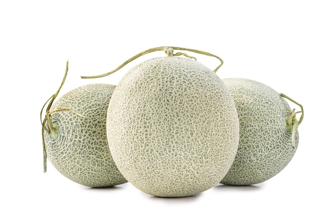 Melão melão melão isolado no fundo branco