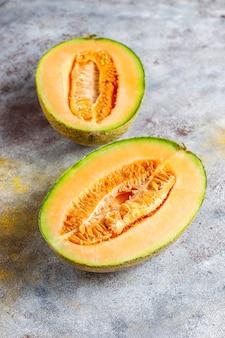 Melão melão orgânico fresco.
