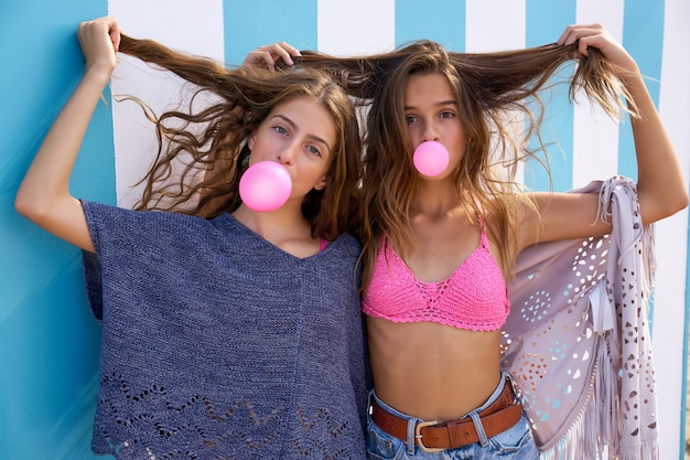 Melhores amigos meninas adolescentes grupo chiclete