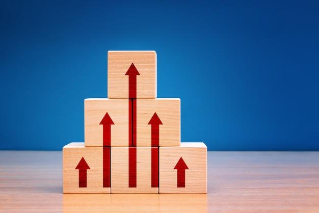 Melhoria do negócio, desenvolvimento pessoal e conceito de crescimento.